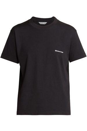 Balenciaga Women's Slim-Fit Logo T-Shirt - - Size XL