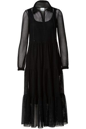 AKRIS Women Midi Dresses - Women's Embroidered Long-Sleeve Dress - - Size 10