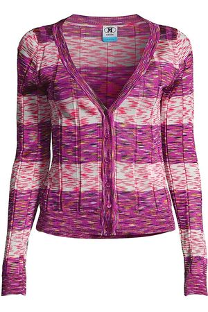 M Missoni Women's Stamped Stripe Knit Cardigan - Stripe - Size 6