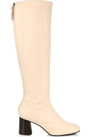 3.1 Phillip Lim Women Thigh High Boots - Women's Nadia Soft Leather Tall Boots - Light - Size 8.5