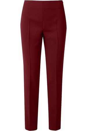 AKRIS Women's Melissa Wool-Nylon Slim-Fit Pants - Marsala - Size 16