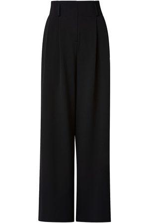 AKRIS Women's Gabardine High-Rise Wide Pants - - Size 16