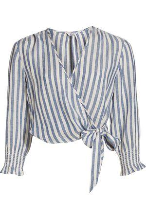 Rails Women's Raquel Cropped Wrap Top - Echo Stripe - Size Small