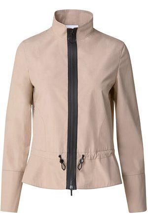 AKRIS Women's Drawcord Cotton Jacket - Sand - Size 4