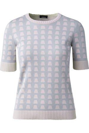 AKRIS Women's Trapezoid Jacquard Knit T-Shirt - Aluminium - Size 14