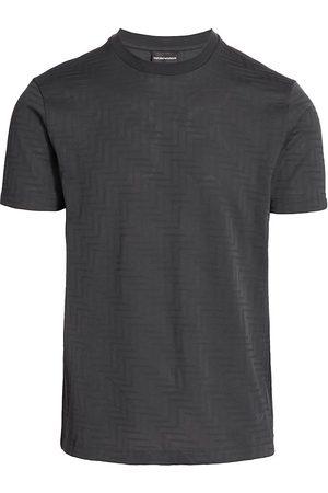 Armani Men's Zig Zag Crewneck T-Shirt - Grey - Size XXXL