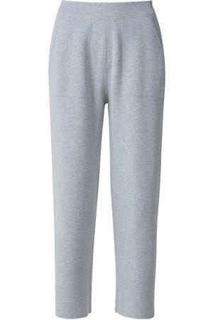 AKRIS Women's Cashmere Piqué Knit Pants - Aluminium - Size 14