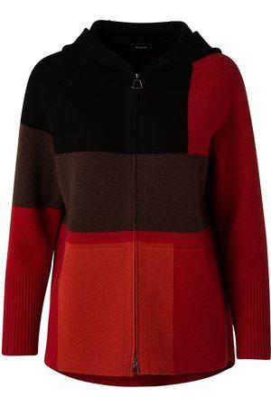 AKRIS Women's Colorblock Cashmere Piqué Hoodie - Cadmium - Size 10