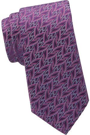 Charvet Men's Geometric Basketweave Silk Tie