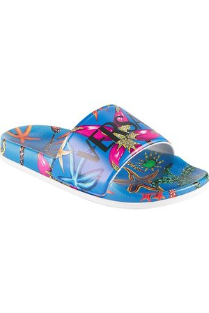 VERSACE Kid's Tresor de la Mer Print Slide Sandals - - Size 3.5 (Child)