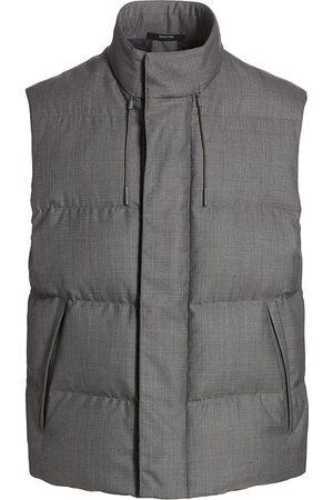 Ermenegildo Zegna Men's Achillfarm Wool Puffer Vest - Grey - Size 46