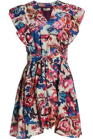 CHUFY Women's Memories Of Romania Luca Mini Floral A-Line Dress - Vera - Size XS