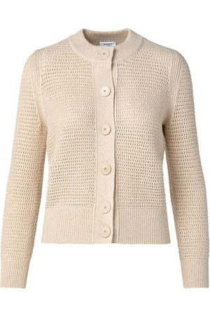 AKRIS Women's Virgin Wool-Blend Button-Up Cardigan - Oat - Size 16
