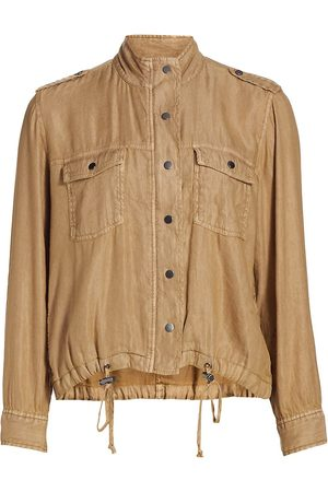 Rails Women Jackets - Women's Collins Washed Cargo Pocket Jacket - Toffee - Size Medium