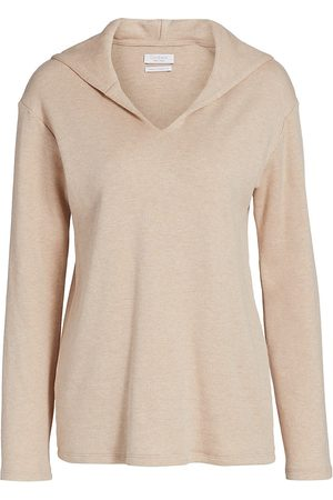 Deveaux New York Women's Hannah Hoodie - Oatmeal - Size Small