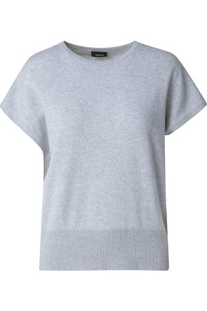 AKRIS Women's Cashmere Knit T-Shirt - Aluminium - Size 10