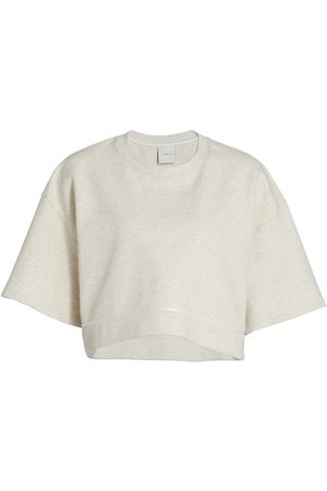 Varley Women's Fenton Cropped T-Shirt - Ivory Marl - Size XL