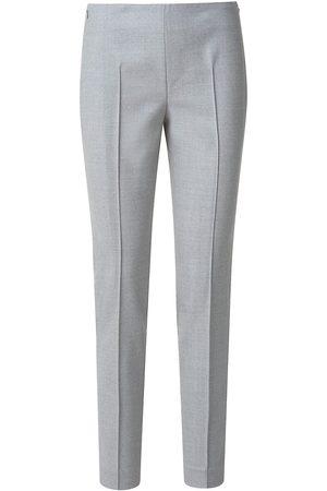 AKRIS Women's Melissa Wool Flannel Stretch Slim-Fit Pants - Aluminium - Size 14