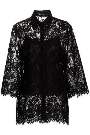 Teri Jon by Rickie Freeman Women's Lace Blouse - - Size 10
