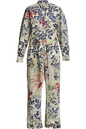 CHUFY Women's Memories Of Romania Tassa Floral Jumpsuit - Emil - Size Large
