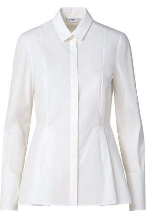 AKRIS Women's Poplin Peplum Shirt - - Size 14