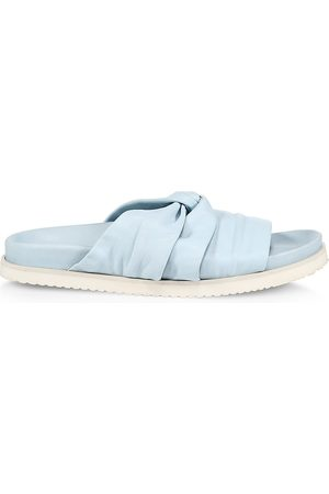 3.1 Phillip Lim Women's Twisted Leather Pool Slides - Sky - Size 7 Sandals