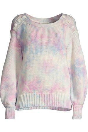 LOVESHACKFANCY Women's Gallatin Tie Dye Sweatshirt - Cotton Candy Hand Dye - Size Large