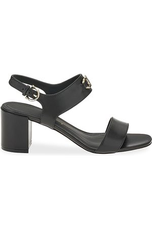 Salvatore Ferragamo Women's Cayla Leather Slingback Sandals - Nero - Size 11