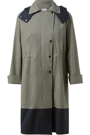 AKRIS Women's Colorblock Jacket - Moss - Size 18