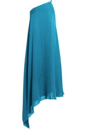 Halston Heritage Women's Blair Chiffon One-Shoulder Dress - Turquoise - Size 12