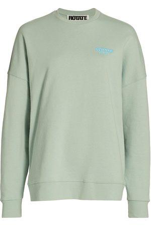 ROTATE Women Sports Hoodies - Women's Rotate Sunday Iris Crewneck Sweatshirt - Surf - Size Small