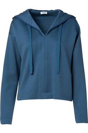 AKRIS Women's Hooded Zip-Up Sweatshirt - Denim - Size 16
