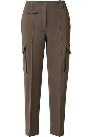 AKRIS Women's Virgin Wool Cargo Pants - Moss - Size 16
