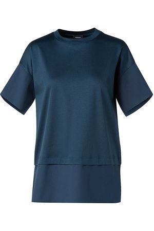 AKRIS Women's Poplin Jersey T-Shirt - Deep - Size 16