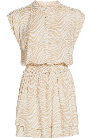 Rails Women's Angelina Tiger Dress - Tan Abstract Tiger - Size XS