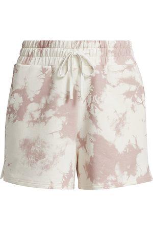 Varley Women's Glade Drawstring Shorts - Taupe Tie Dye - Size Large