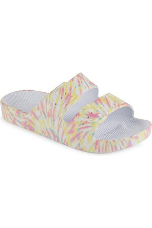 Freedom Moses Little Girl's & Girl's Tie-Dye Double-Buckle Slide Sandals - Fireworks - Size 8 (Toddler)