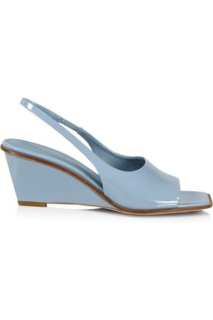 3.1 Phillip Lim Women's Laura Slingback Leather Wedge Sandals - Sky - Size 8