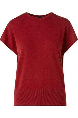 AKRIS Women's Cashmere Knit T-Shirt - Cadmium - Size 10