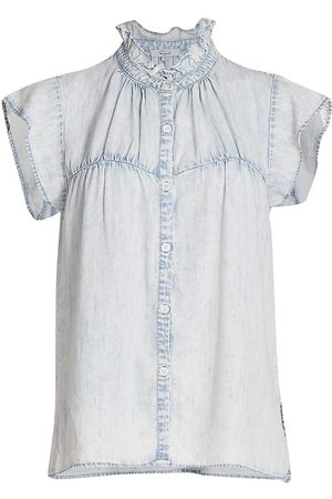 Rails Women's Ruthi Button-Up Denim Top - Light Acid Wash - Size XS