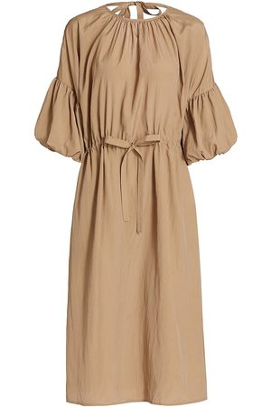 Deveaux New York Women's Riley Billow Sleeve Midi Dress - - Size Large