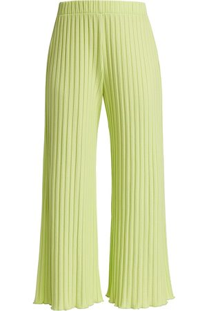 Rib by Simon Miller Women's Alder Ribbed Cropped Pant - Chartreuse - Size Small