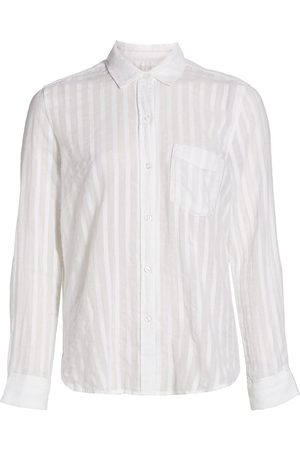Rails Women's Charli Button-Up Shirt - Shadow Stripe - Size Small