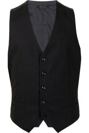 Giorgio Armani Men Waistcoats - Pinstripe wool waistcoat