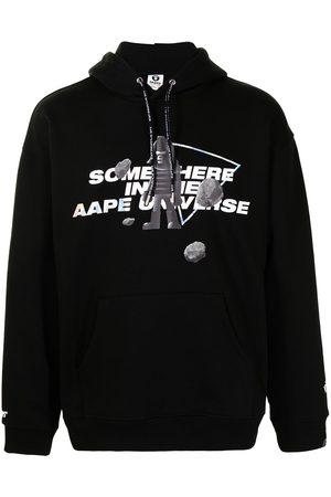 AAPE BY A BATHING APE Men Hoodies - Slogan-print pullover hoodie