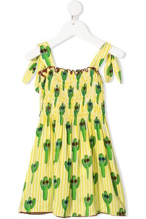 MC2 Saint Barth Kids Girls Printed Dresses - Cactus-print dress