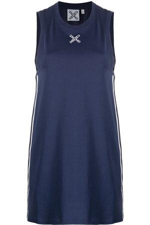 Kenzo Women Printed Dresses - Logo-print sleeveless dress