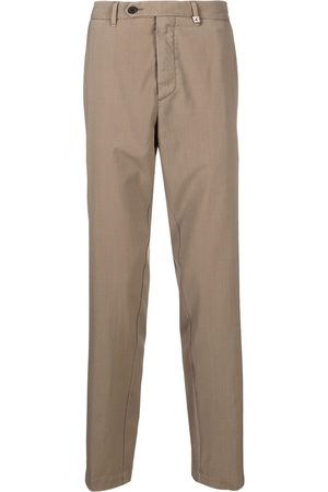 MYTHS Straight-leg tailored trousers - Neutrals