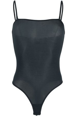 MAISON CLOSE Women Lingerie Bodies - Sleeveless modal bodysuit - Grey