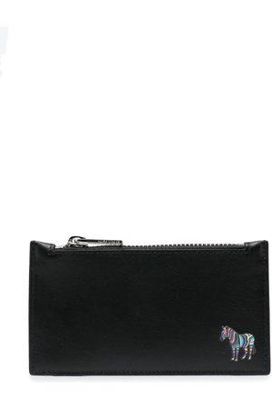 Paul Smith Men Wallets - Zebra logo-patch leather wallet